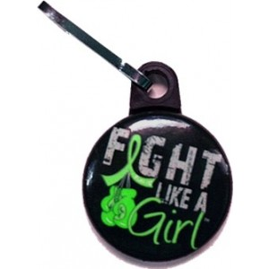 Fight Like a Girl Zipper Pulls Lymphoma Non-Hodgkin's Lyme Disease