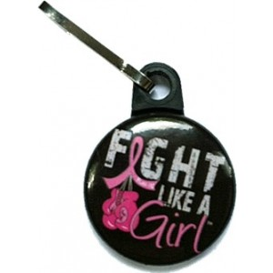 Fight Like a Girl Zipper Pulls Breast Cancer