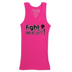Hot Pink Cancer Awareness Boy Beater Tank Top