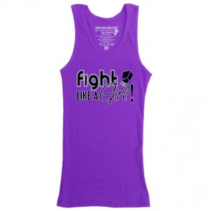 Fight Like a Girl Signature Boy Beater Tank Top - Purple