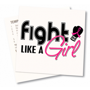 Fight Like a Girl Temporary Tattoos 1