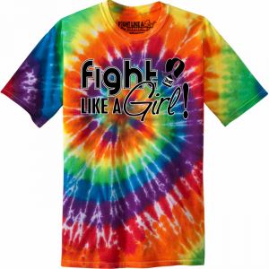 Fight Like a Girl Tie-Dye T-Shirt