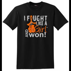 I Fought Like a Girl and Won Shirt for Leukemia, Kidney Cancer, Skin Cancer, Multiple Sclerosis aka MS, RSD