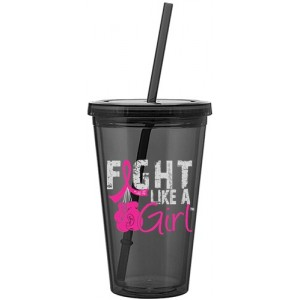 Fight Like a Girl Acrylic Tumbler Graphite
