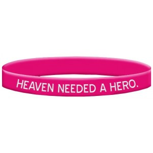 Breast Cancer Silicone Wristband Bracelets Heaven Needed a Hero God Picked Mine