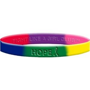 Hope Silicone Wristband - Rainbow
