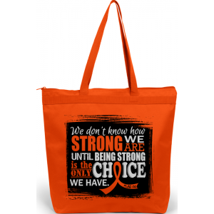 """How Strong We Are"" Darcey Tote Bag - Orange"
