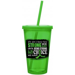How Strong We Are Acrylic Tumbler Lime Green Lymphoma Lyme Disease Muscular Dystrophy