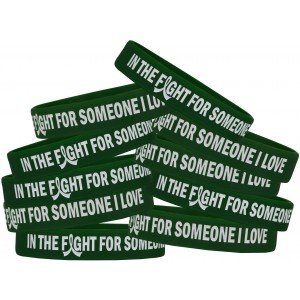 """In the Fight"" Silicone Wristband Bracelet - Emerald Green"