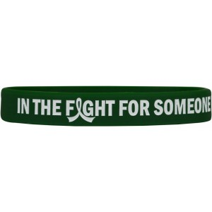 """In The Fight"" Ink-Filled Silicone Wristband Bracelet - Emerald Green"