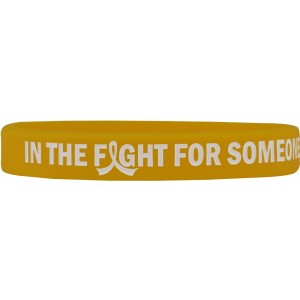 """In The Fight"" Ink-Filled Silicone Wristband Bracelet - Gold"