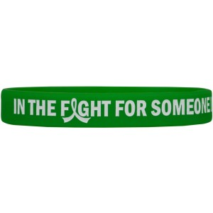"""In The Fight"" Ink-Filled Silicone Wristband Bracelet - Green"