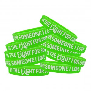 """""""In The Fight"""" Ink-Filled Silicone Wristband - Lime Green"""