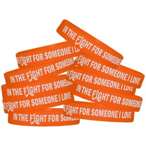 """In The Fight"" Ink-Filled Silicone Wristband - Orange"