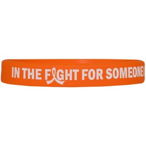 """In The Fight"" Ink-Filled Silicone Wristband Bracelet - Orange"
