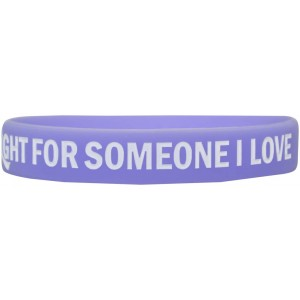 """In The Fight"" Ink-Filled Silicone Wristband Bracelet - Periwinkle"