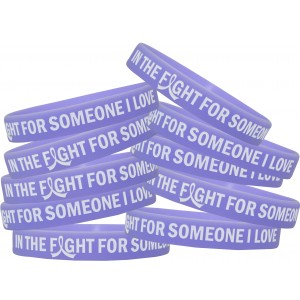 """In The Fight For Someone I Love"" Silicone Wristband - Periwinkle"