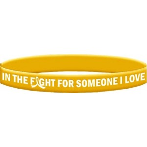 Childhood Cancer Wristband Bracelets In The Fight For Someone I Love
