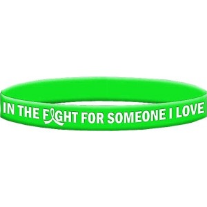 Non-Hodgkin's Lymphoma, Lyme Disease, Muscular Dystrophy Silicone Wristband Bracelets In The Fight For Someone I Love