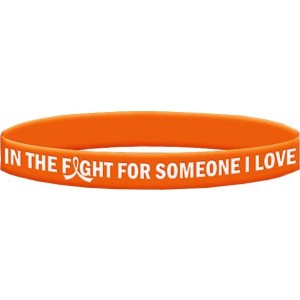 In The Fight Wristband Bracelet for Leukeima Kidney Cancer Multiple Sclerosis MS RSD