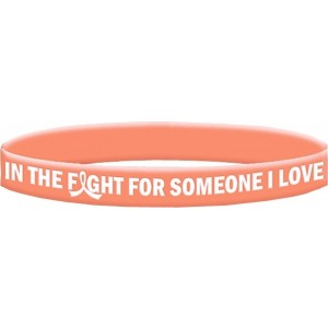 Uterine Cancer and Endometrial Cancer Wristband Bracelet In The Fight For Someone I Love