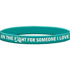 Ovarian Cancer Silicone Wristband Bracelets In The Fight For Someone I Love
