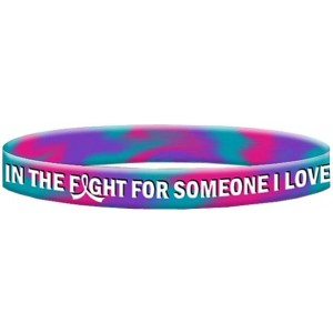 Thyroid Cancer Silicone Wristband Bracelets In The Fight For Someone I Love
