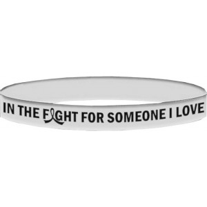Lung Cancer, Retinoblastoma, Mesothelioma, Bone Cancer Wristband Bracelets In The Fight For Someone I Love