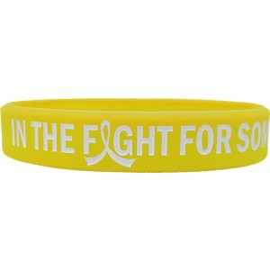 """In The Fight"" Ink-Filled Silicone Wristband Bracelet - Yellow"