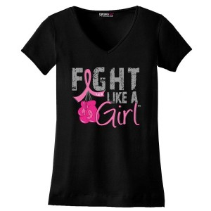 Breast Cancer T-Shirt with Boxing Gloves by Fight Like a Girl