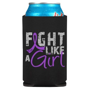 Fight Like a Girl Koozie Can Cooler