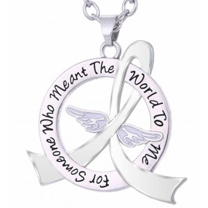"""Meant The World To Me"" Tribute Necklace - White Ribbon"