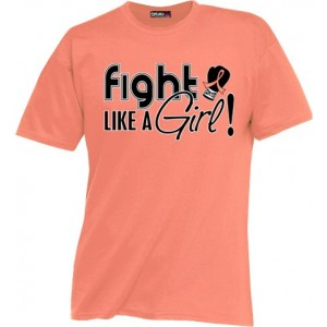 Uterine Cancer Endometrial Cancer T-Shirt by Fight Like a Girl