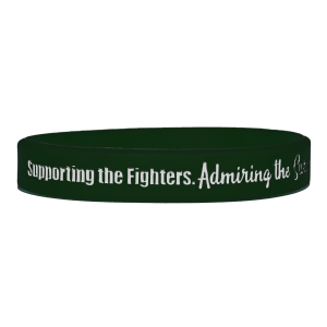 """""""Supporting Admiring Honoring"""" Ink-Filled Silicone Wristband - Emerald Green"""
