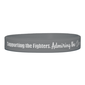 """""""Supporting Admiring Honoring"""" Ink-Filled Silicone Wristband - Grey"""