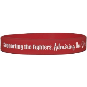 """Supporting Admiring Honoring"" Ink-Filled Silicone Wristband - Red"
