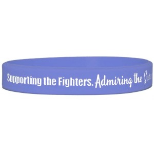 """Supporting Admiring Honoring"" Ink-Filled Silicone Wristband - Violet"