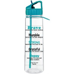 Motivational Water Sports Bottle with Time Marker Measurements