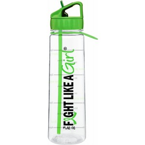 Fight Like a Girl Water Bottle With Time-Marker Lymphoma Lyme Disease Muscular Dystrophy