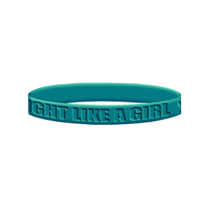 Fight Like a Girl Wristband - Teal