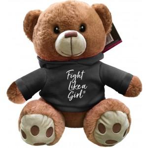 """""""Fight Like a Girl Script"""" Fight Pal Teddy Bear - Black Frost"""