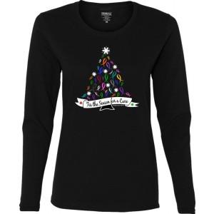 """'Tis the Season"" Ladies Long Sleeve Shirt - Black"