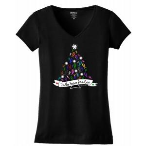 """'Tis the Season"" Ladies V-Neck - T-Shirt - Black"