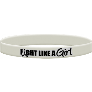 Fight Like a Girl Wristband Bone Cancer, Bone Disease, Osteoporosis, Retinoblastoma, Scoliosis, Lung Cancer, Mesothelioma,Lung Disease