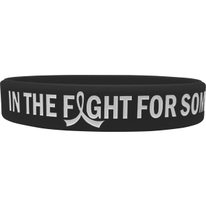 """In The Fight"" Ink-Filled Silicone Wristband Bracelet - Black"