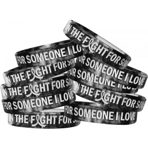 """In The Fight"" Ink-Filled Silicone Wristband - Black and White"