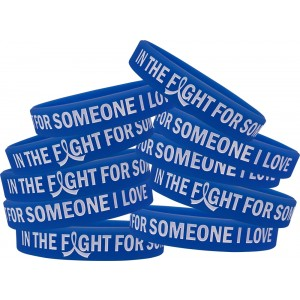 """In The Fight"" Ink-Filled Silicone Wristband - Blue"