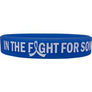 """In The Fight"" Ink-Filled Silicone Wristband Bracelet - Blue"