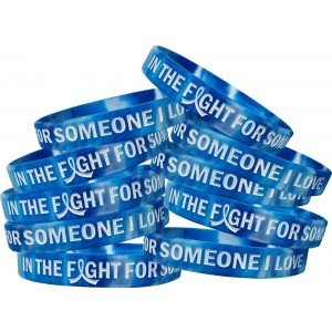 """In The Fight For Someone I Love"" ALS Wristband - Blue, White"