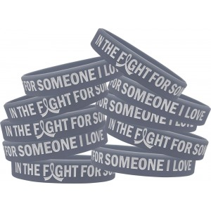 """In the Fight"" Silicone Wristband Bracelet - Grey"